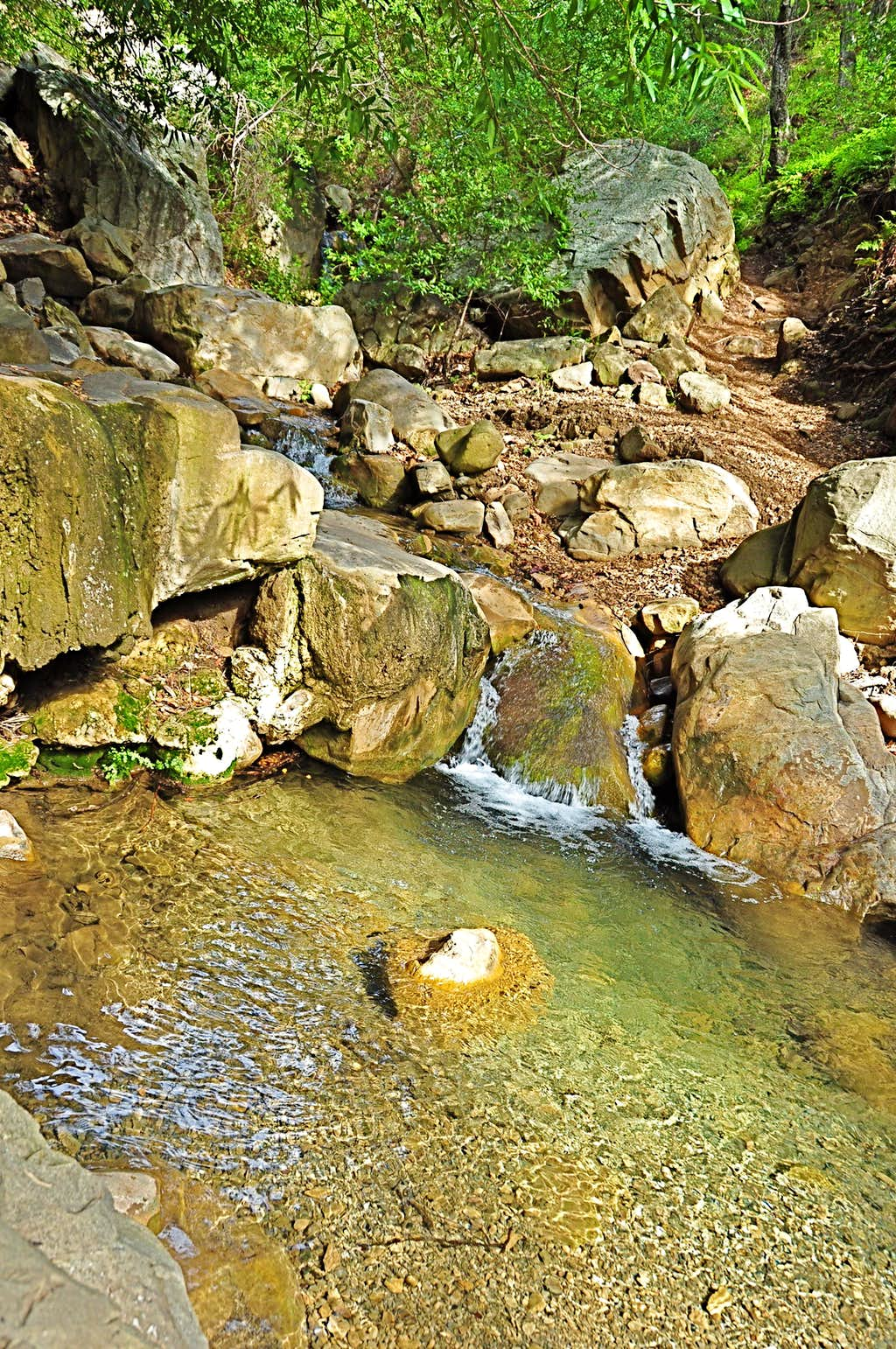 One of the creek crossings