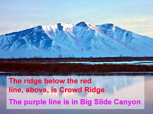 Spanish Fork Peak, Crowd Ridge, Big Slide Canyon