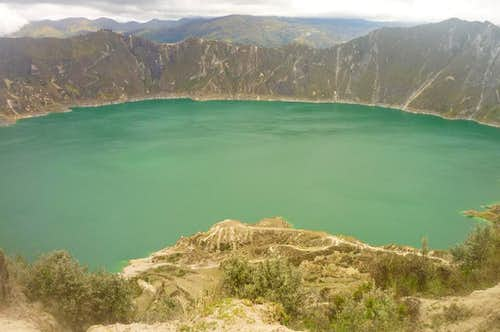 Quilotoa crater lake from the mirador
