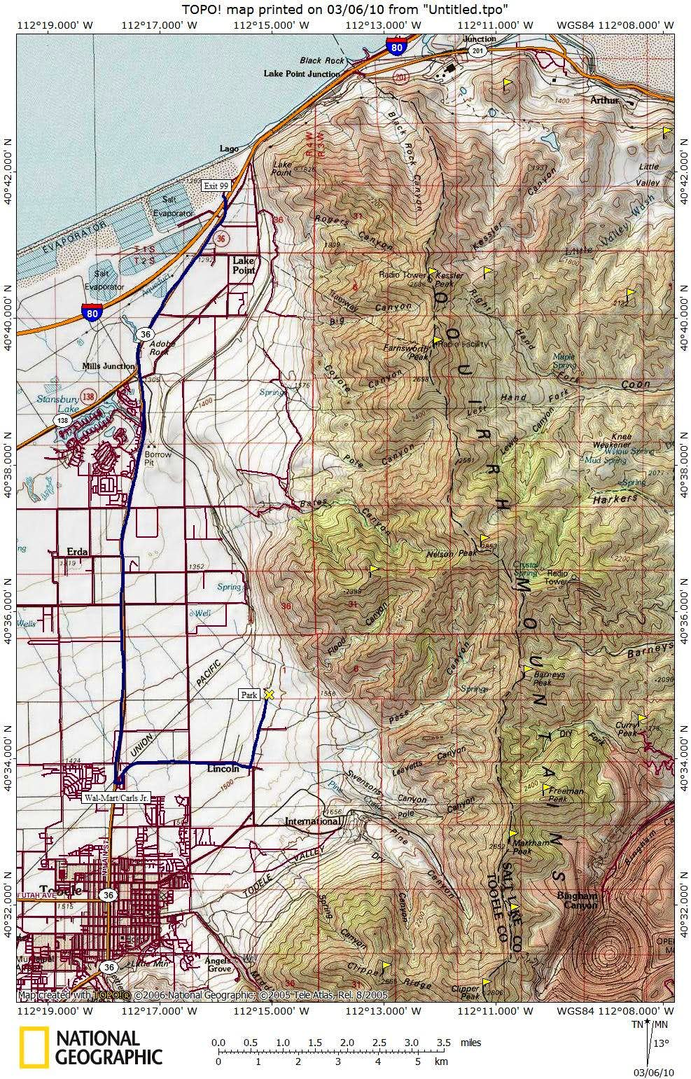Nelson Peak Access Map