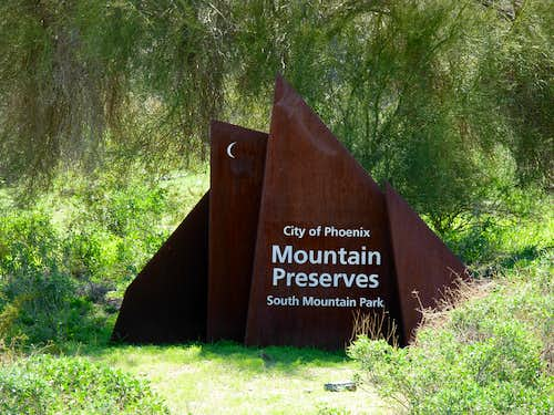South Mountain Park Sign