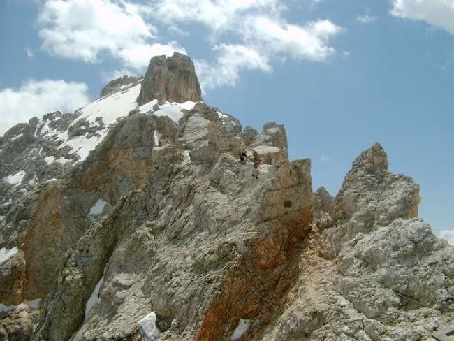 Two alpinists on Monte...