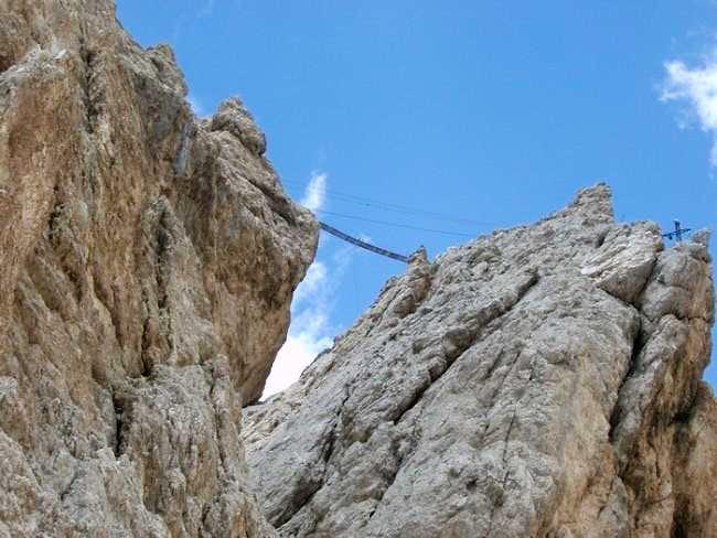 Bridge on the Mount Cristallo...