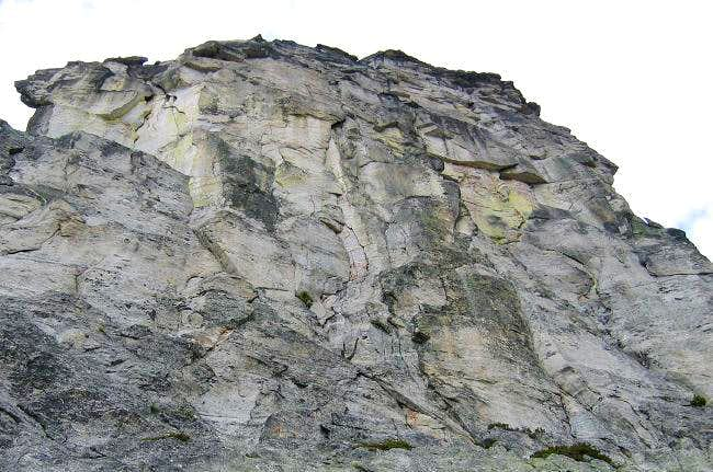 The 450 foot high east face...