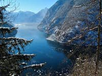 "The Königssee, seen from the ""Raven\'s Wall"""