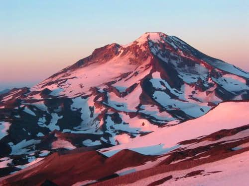 South Sister at dawn from the...