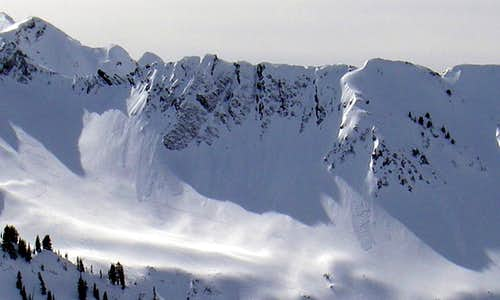 Some small avalanches in Cartiff Fork
