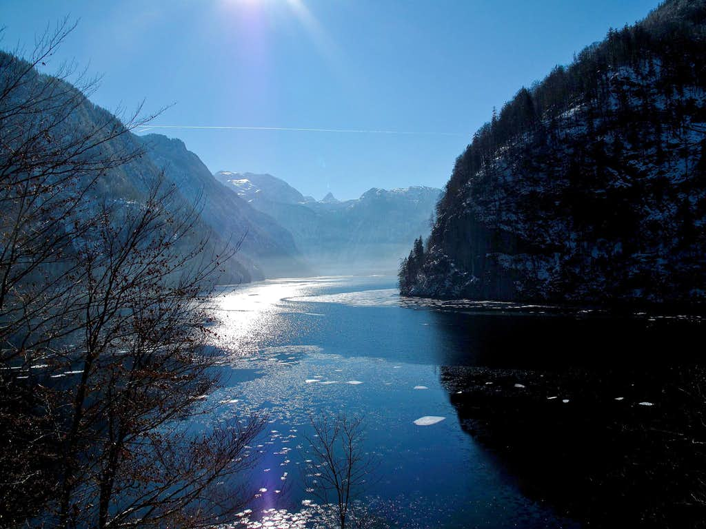 The Königssee seen from the Malerwinkel (