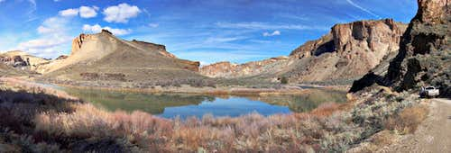 Owyhee reflections pano
