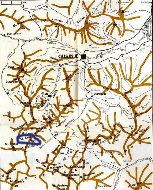 Maja Shkurt map