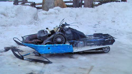 The Ghetto Snowmobile
