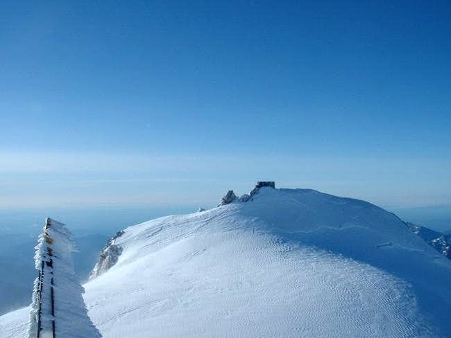 The summit of the...