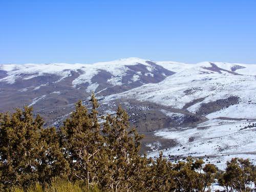 Pond Peak 8031' from Spanish Springs Peak 7401'