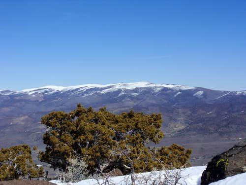 Virginia Peak 8367' from Spanish Springs Peak  7401'