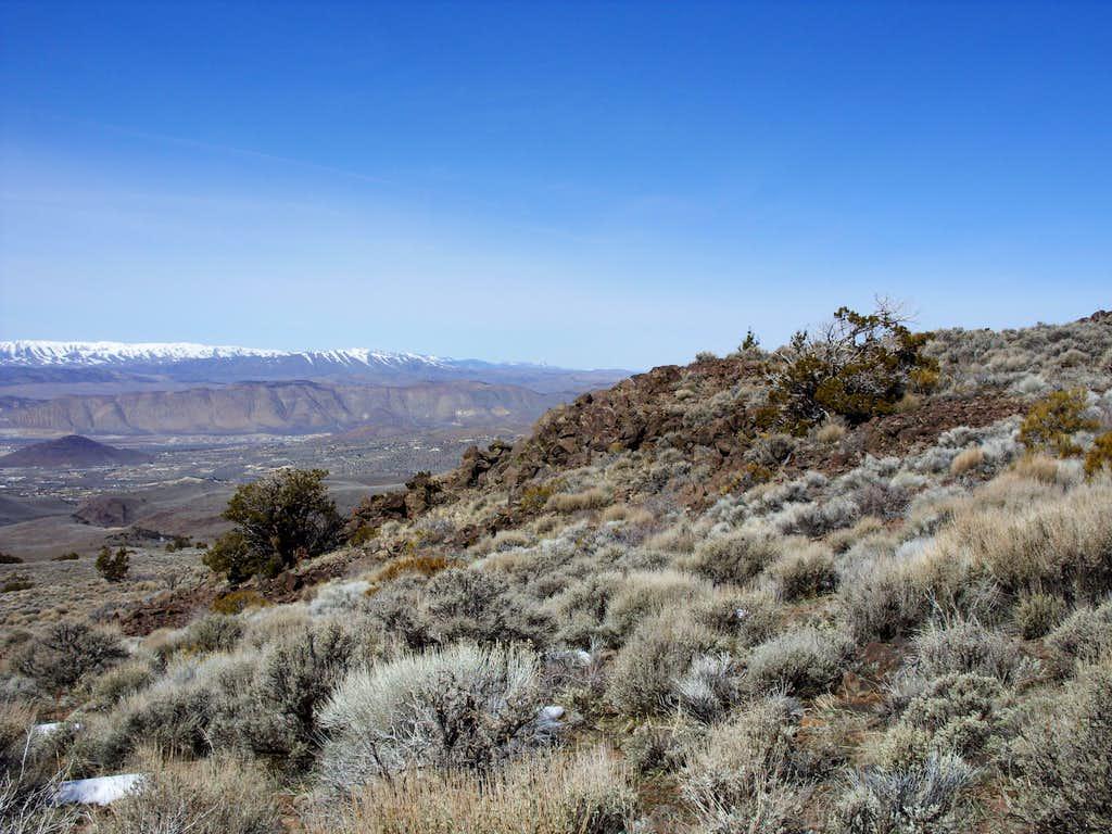 Petersen Mountain range from Spanish Springs Peak