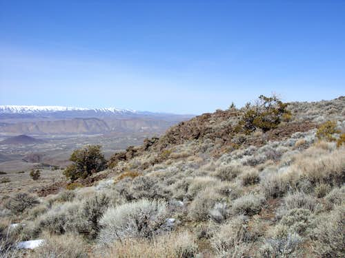 Petersen Mountain range from Spanish Springs Peak