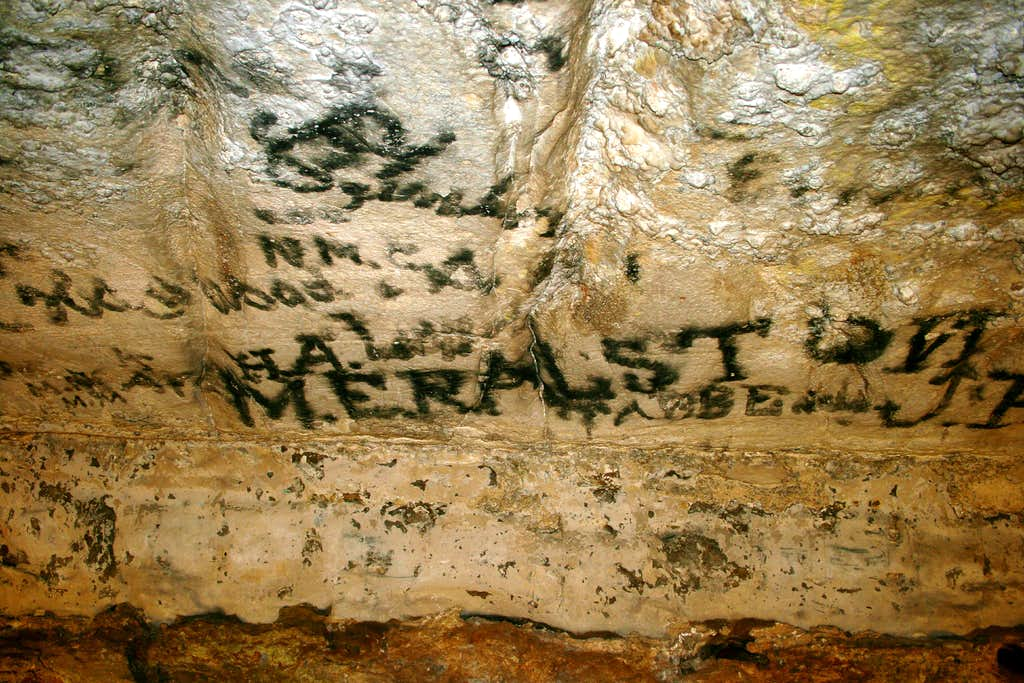 Historic Graffiti in Mammoth Cave
