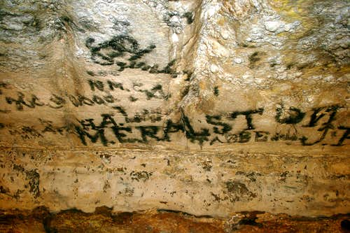 Historic Graffiti in Mammoth Cave