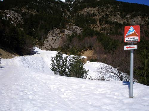 Avalanche danger