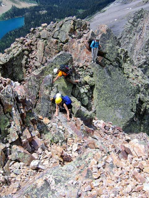 Scrambling near the summit of...