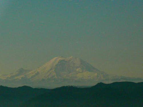 Mt. Rainier at night.