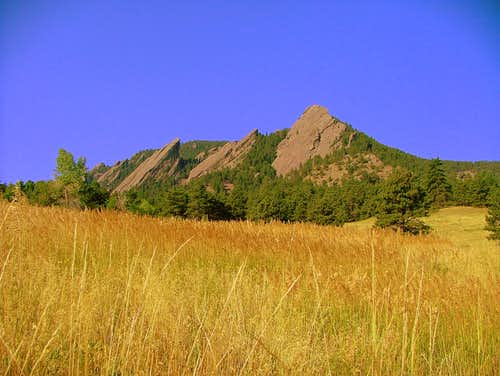 The flatirons as seen on the approaching.