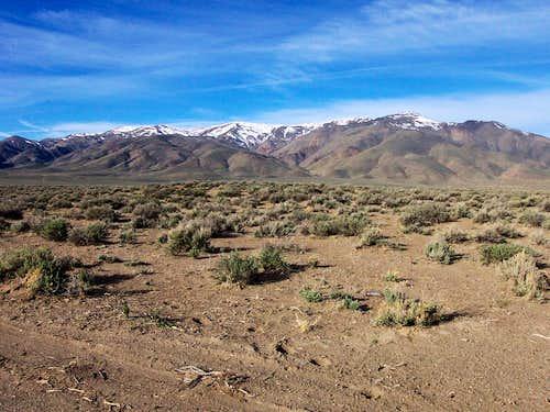 Pah Rah Range from the east