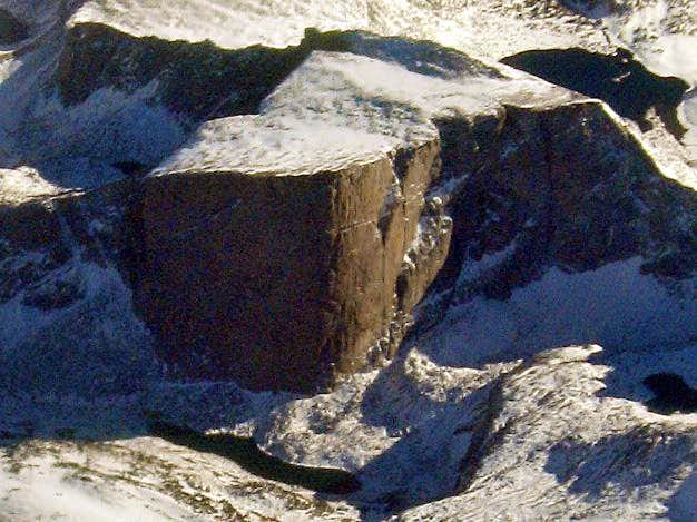 Aerial view of Mt Hooker