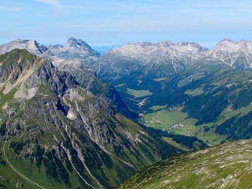 The Zugertal valley behind Lech