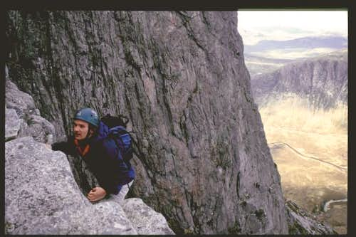 On Curved Ridge, with Rannoch...