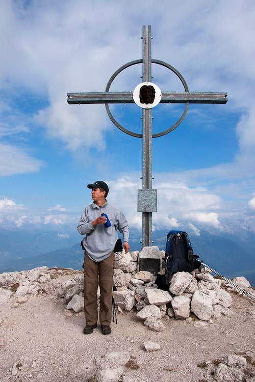 Hochalpenkopf summit cross
