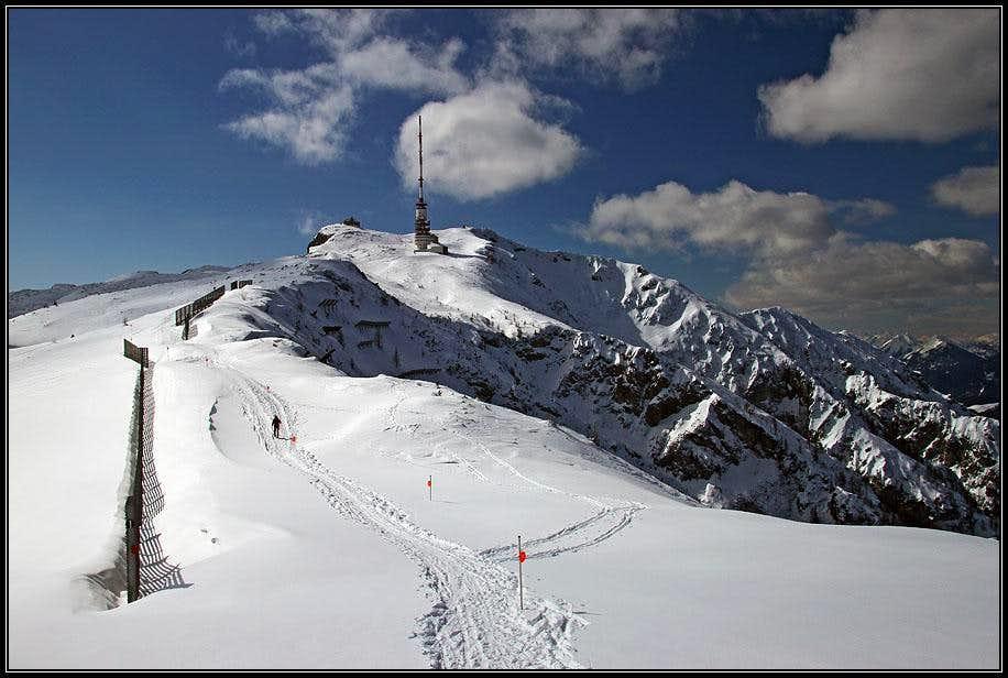 The summit of Dobratsch massif