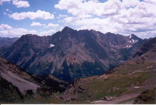 Pyramid Peak from Buckskin Pass