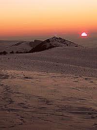 sunset at 410m