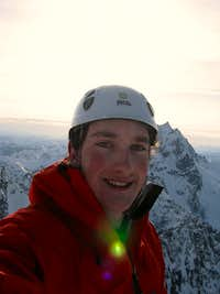 Colin on the summit