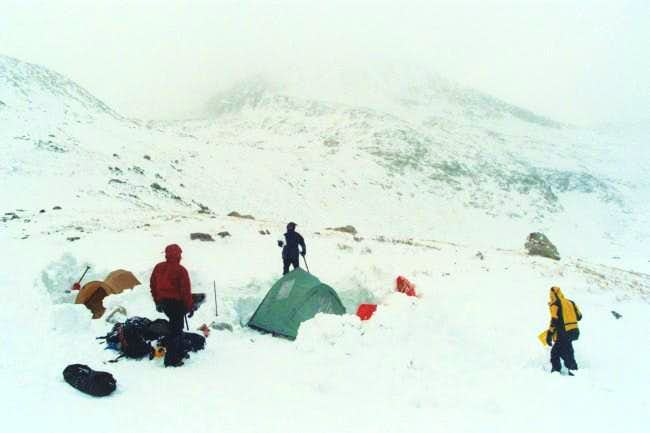 Winter camping at Kite Lake....