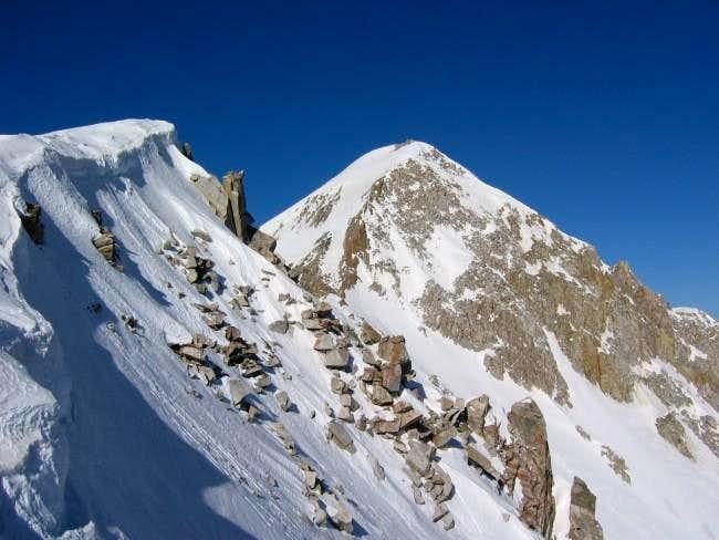 Nearing the summit just...