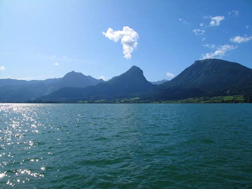 View across the lake from St. Wolfgang