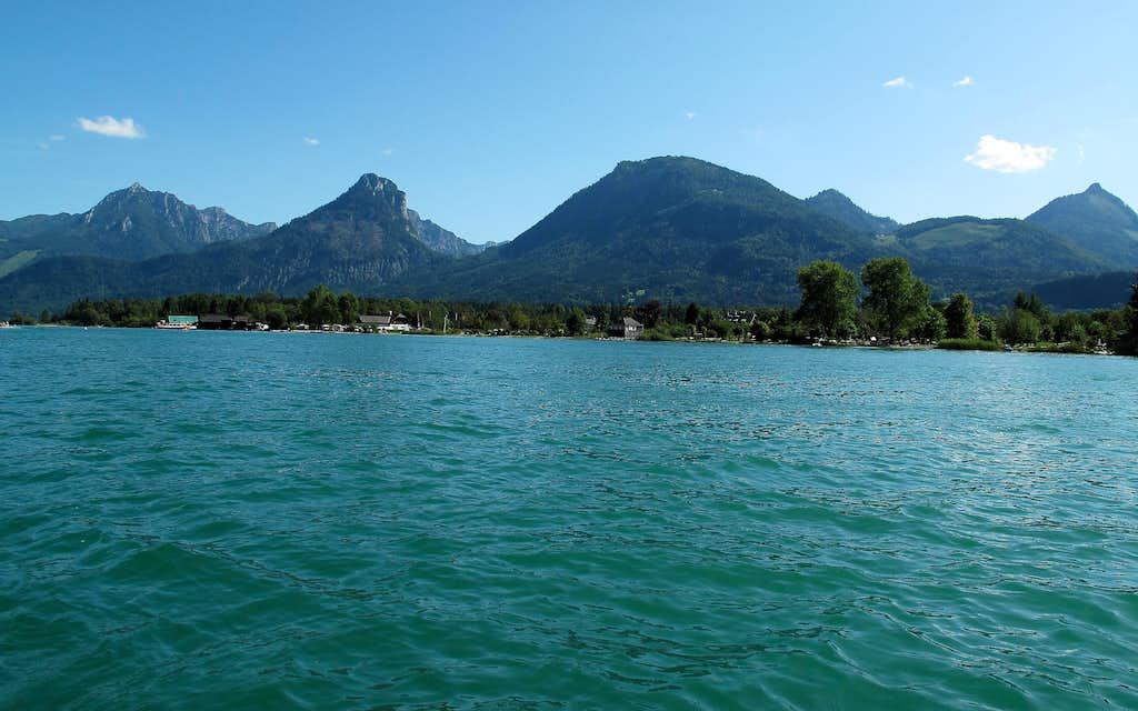 Looking southeast across the Wolfgangsee