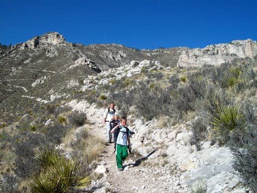 Descending Hunter Peak