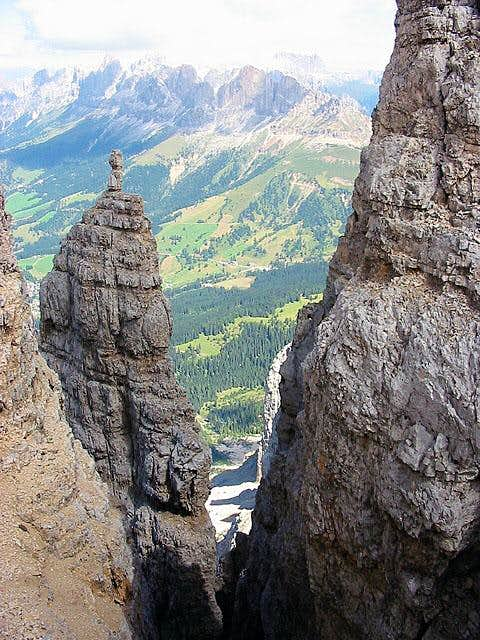 "along the ""ferrata"" : view..."