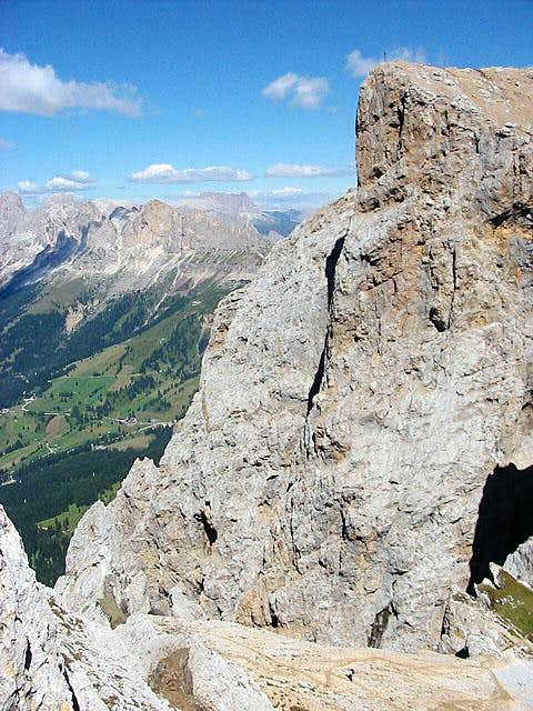 "along the ""ferrata"" :..."