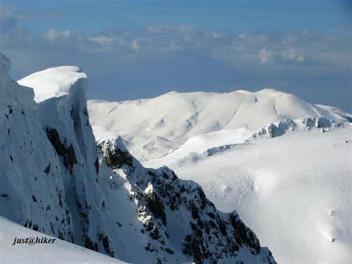 Snow on Treskavica ridges