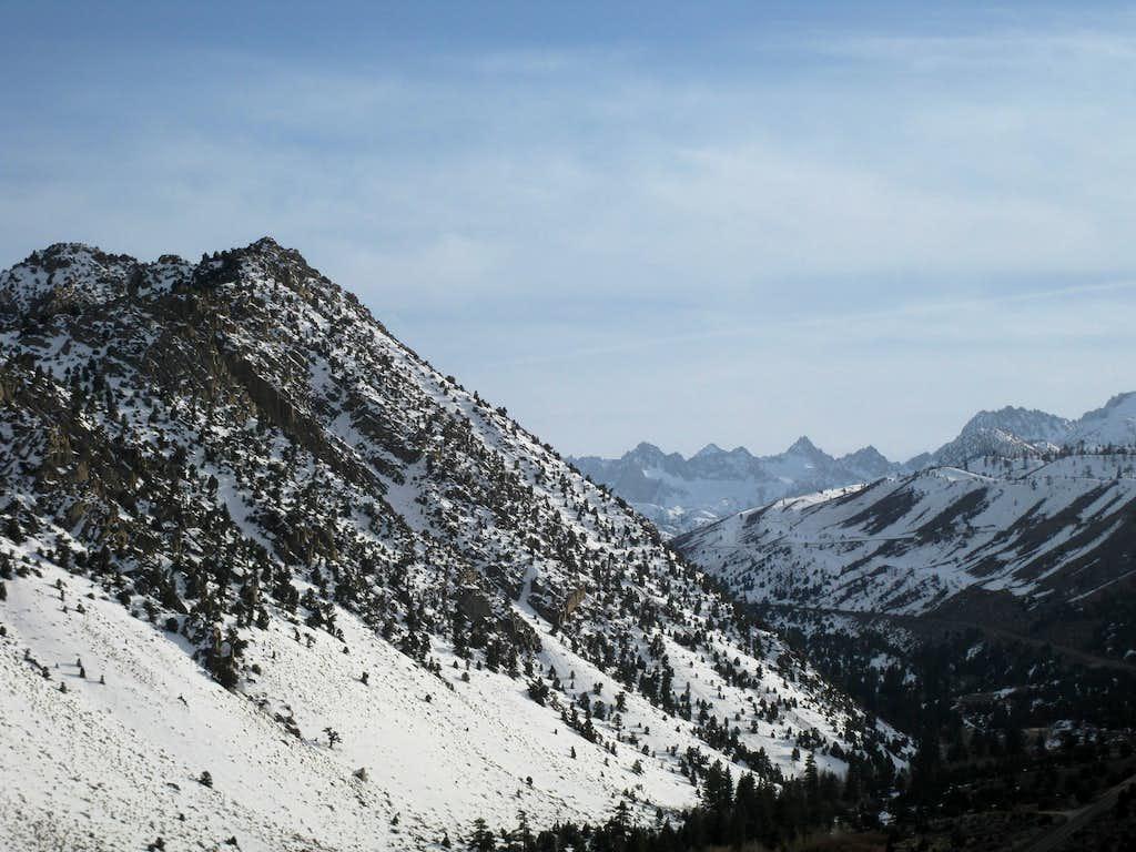 Peaks above Lake Sabrina
