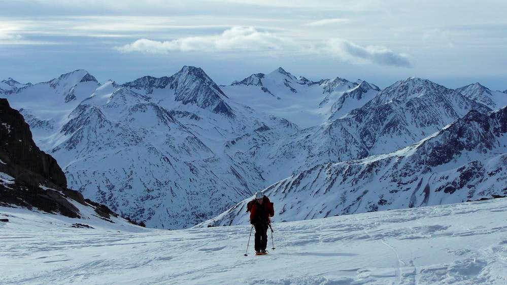 On the Mitterkarferner glacier towards the Mitterkarjoch