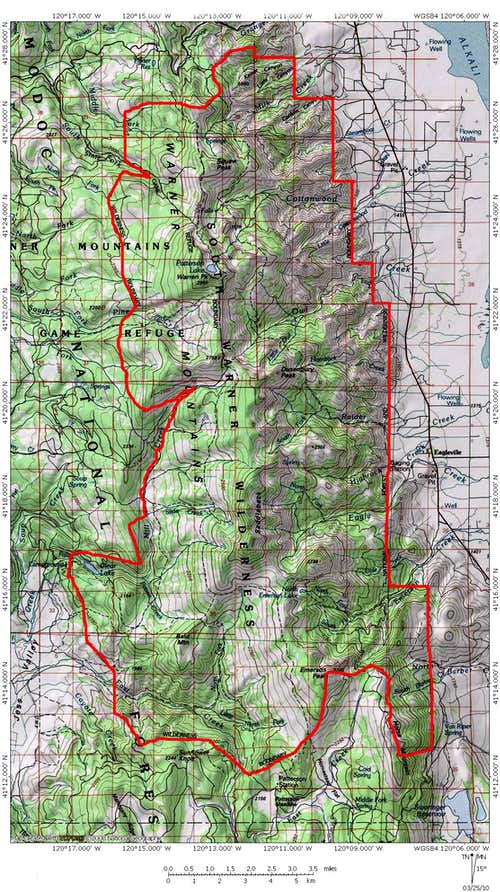Warner Mountains Map