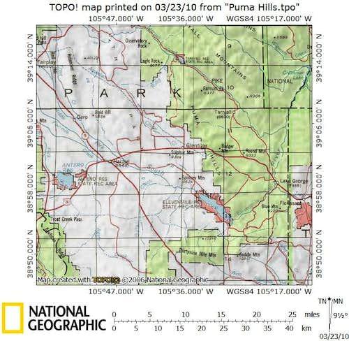 Puma Hills Climbing Hiking Mountaineering Summitpost: Dream Stream Colorado Map At Slyspyder.com