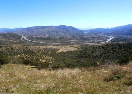 Looking down Cajon Pass
