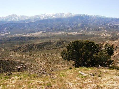 View of San Gabriel Mountains