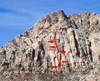 Stilgar's Wild Ride, 5.8R, 6 Pitches
